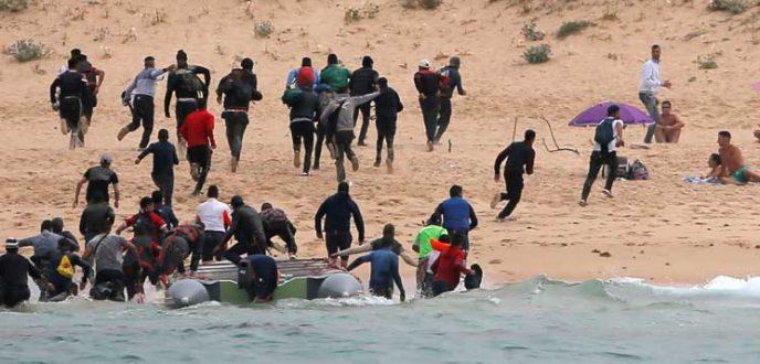 في ظرف اقل من 24 ساعة أمن السعيدية يلقي القبض على 14 مهاجرا سريا من بينهم ثلاث شركاء متزعمين العملية