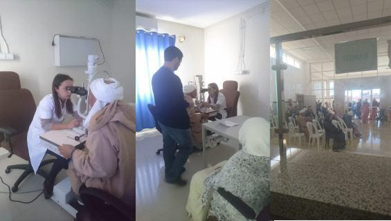 حملة طبية ناجحة بمستشفى القرب العيون سيدي ملوك
