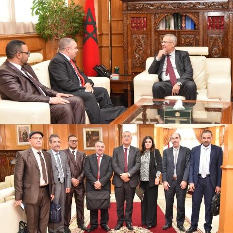 وزير العدل يستقبل أعضاء المكتب التنفيذي للنساخ القضائيين بالمغرب
