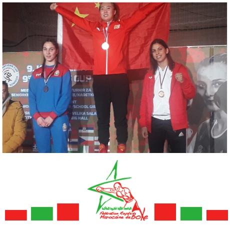 القفاز المغربي النسوي يسجل حضوره بقوة بدوري كأس الأمم للملاكمة في نسخته التاسعة بصربيا