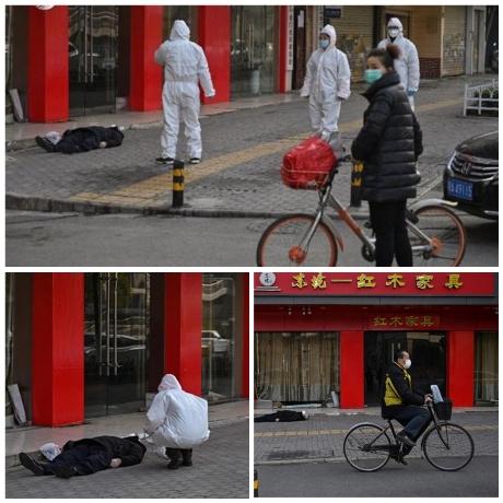 """ضحايا """"فيروس كورونا"""" يتساقطون فى شوارع الصين وانتشار الجثث فى ووهان"""