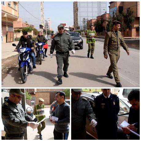 """السلطات المحلية ببركان في حملة تحسيسية توعوية بالأحياء والشوارع حول """"فيروس كورونا"""" المستجد"""" (كوفيد-19)"""