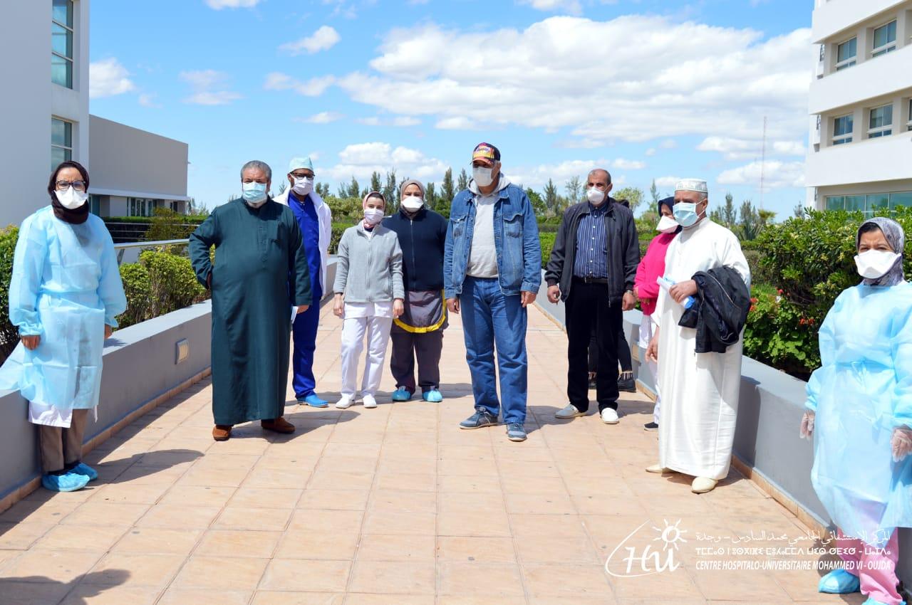 المستشفى الجامعي محمد السادس بوجدة يعرف 7 حالات شفاء بفيروس كوفيد 19