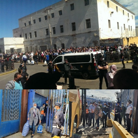 منذ أزيد من شهرين السلطات المغربية تُقرر إعادة المغاربة العالقين في مدينة مليلية المحتلة