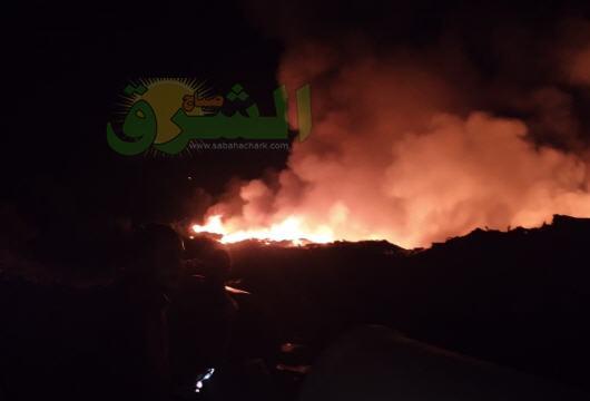 عناصر الوقاية المدينة تنجح في إخماد حريق اندلع بقرب سوق الجملة للخضر ببركان