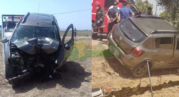 مصرع ثلاث أشخاص في حادثة إرتطام سيارة بجدع شجرة بالقرب من مطار وجدة أنكاد