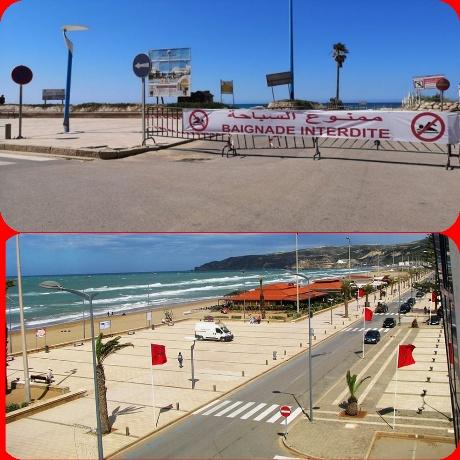 السلطات الإقليمية ببركان تغلق شاطئ السعيدية في وجه المواطنين بسبب كورونا