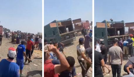 القبض على 20 شخصا تورطوا في أعمال السرقة والرشق بالحجارة في سوق لبيع الأغنام بالدار البيضاء