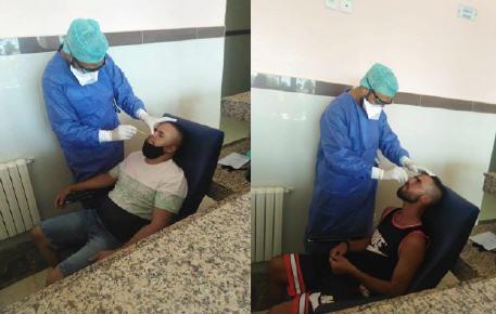 إجراء الكشف الطبي الخاص بكوفيد 19 على لاعبي نادي شباب سيدي ملوك لكرة القدم