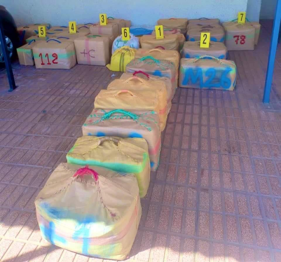 حجز طن 486 كيلوغراما من مخدر الشيرا بمدينة الناظور