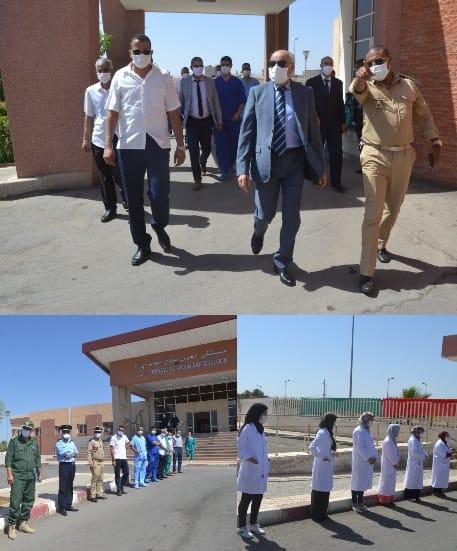 العربي التويجر عامل إقليم تاوريرت في زيارة تفقدية لجناح العزل الصحي