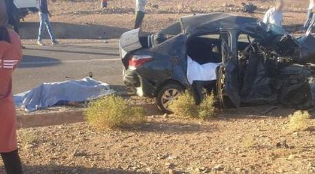 مصرع امرأة وابنتها وإصابة الزوج بجروح في حادثة سير بين بركان ومشرع حمادي