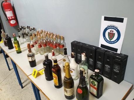 في عملية نوعية حجز أزيد من 5000 قنينة للمشروبات الكحولية بفاس