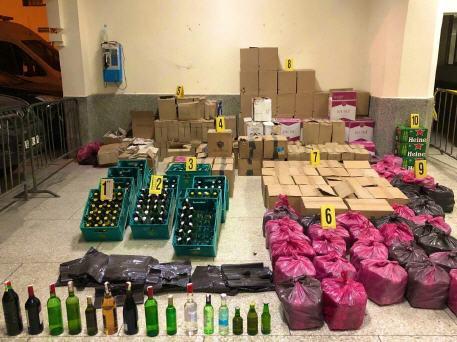 حجز أزيد من 55 ألف قنينة مشروبات كحولية معروضة للبيع بدون رخصة