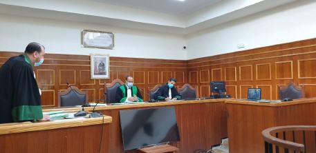حصيلة المحاكمة عن بعد  عقد 412 جلسة استفاد منها 9374 معتقلا في الفترة ما بين (28 شتنبر-2 أكتوبر)