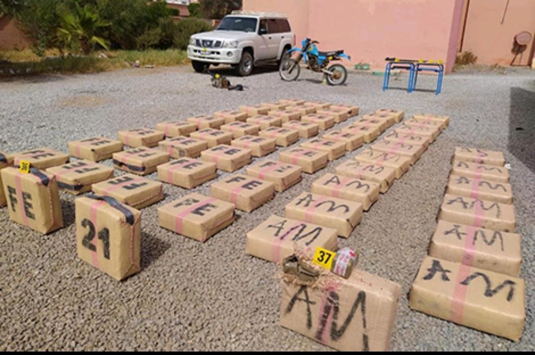 بناء على معلومات دقيقة إحباط عملية للتهريب الدولي للمخدرات بكلميم