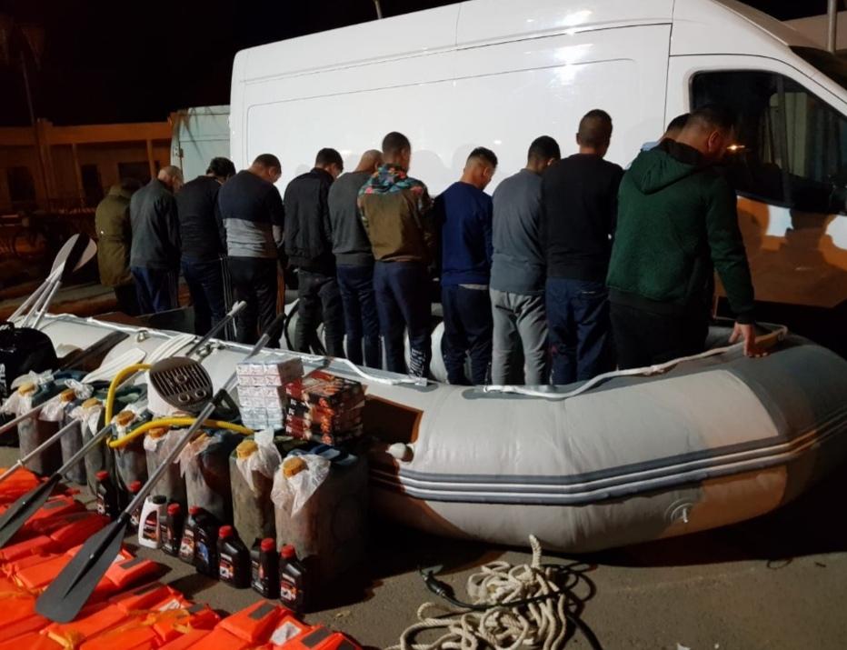 أمن السعيدية يوقف شبكة اجرامية  تنشط في تنظيم الهجرة غير المشروعة والاتجار بالبشر