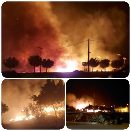 عاجل..نشوب حريق مهول بمساحة بالقرب من المدرسة الفندقية بالسعيدية