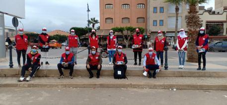 الهلال الأحمر المغربي يواصل حملاته التوعوية ضد فيروس كورونا ببركان