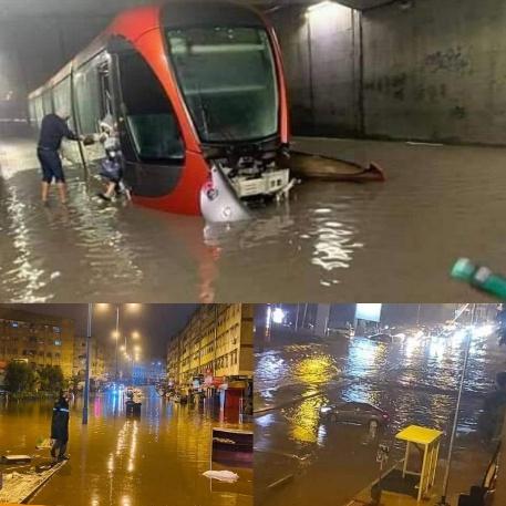 الأمطار تُغرق الدار البيضاء: وتشل حركة السير