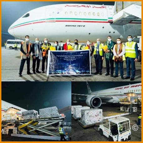 وأخيرا…»طائرة الخطوط الملكية» تُقلع من الهند محملة باللقاح اتجاه المغرب