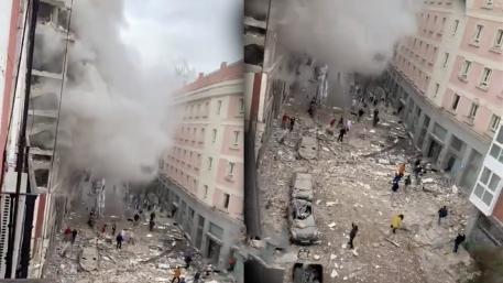 إرتفاع حصيلة ضحايا الانفجار الذي هز العاصمة الإسبانية في مبنى وسط مدينة مدريد