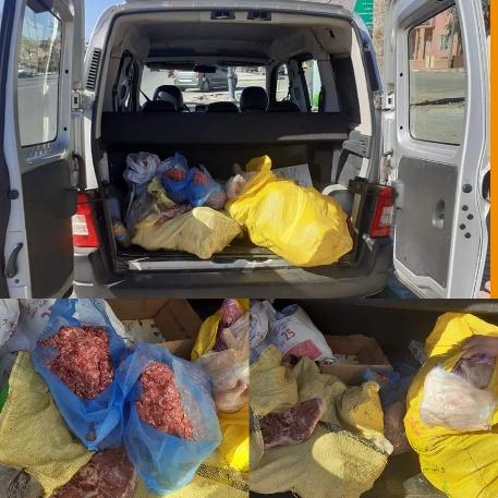 حجز كمية من اللحوم الحمراء والبيضاء غير صالحة للاستهلاك كانت معروضة للبيع ببعض محلات الجزارة ببركان