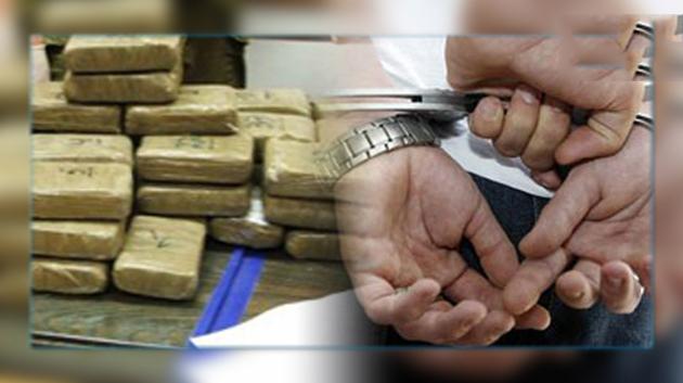 بناء على معلومات دقيقة توقيف شخص مرتبط بشبكة إجرامية تنشط في تهريب المخدرات