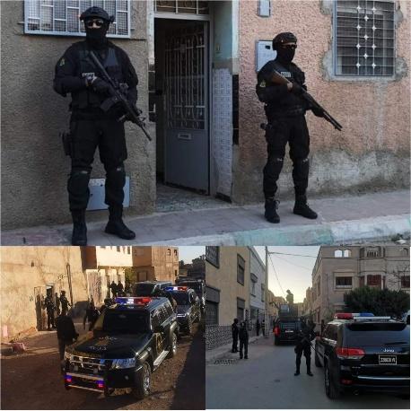 """تفكيك خلية إرهابية تتألف من أربعة متشددين يرتبطون بما يسمى بتنظيم """"الدولة الإسلامية» بوجدة"""