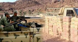 القوات المسلحة الملكية تحبط محاولة تهريب كميات هائلة من المخدرات ضواحي الداخلة .