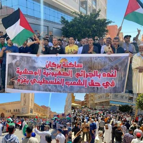 وقفة احتجاجية ببركان تضامنا مع الشعب الفلسطيني
