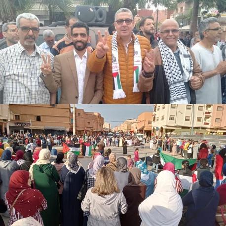 تنظيمات وهيئات حزبية ببركان تشارك في اليوم التضامني الثاني مع فلسطين
