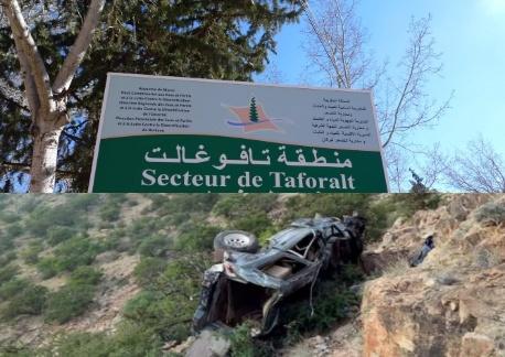 عاجل…وفاة ثلاثة أشخاص في حادث سقوط سيارة من جرف قرب تافوغالت إقليم بركان