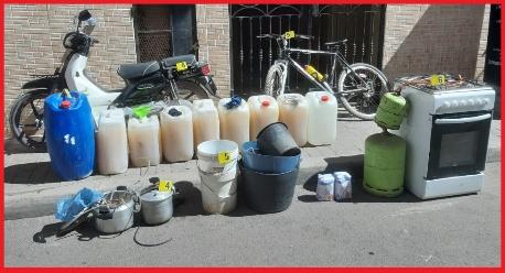 أمن بني انصار يوقف ثلاثة أشخاص متلبسين ببيع الخمور المقطرة بشاطئ بوقانة إقليم الناظور