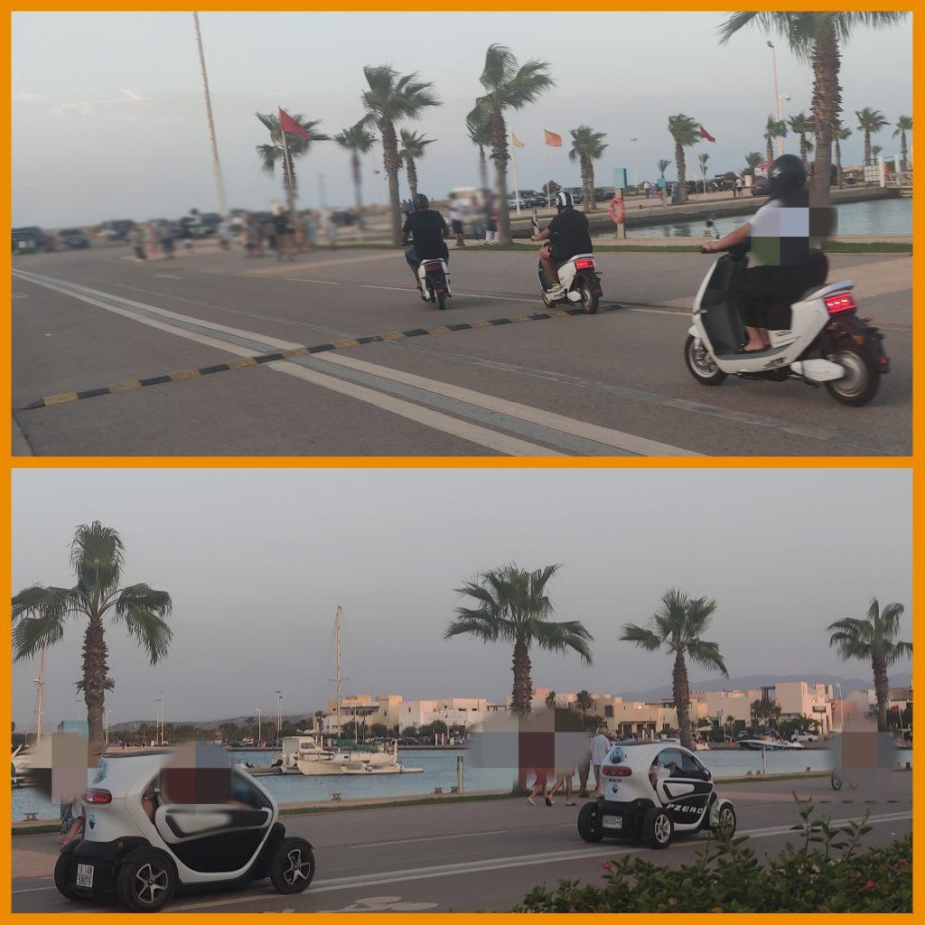 فوضى الدراجات النارية الكهربائية تستفز المصطافين بمنتجع مارينا بالسعيدية