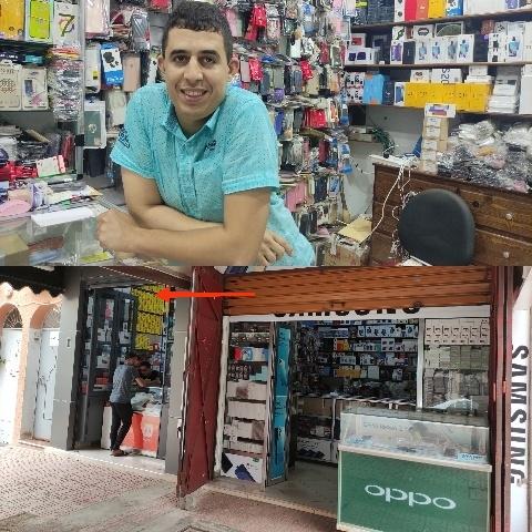 متجر توفيق شوراق الجديد الخاص ببيع منتوجات الهواتف النقالة مفتوح في وجه زبنائه الكرام من التاسعة صباحا إلى التاسعة مساء