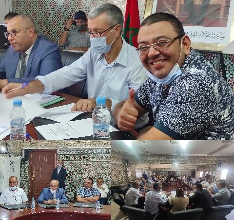 محمد نصيري يهنئ السيد محمد ابراهيمي بمناسبة انتخابه رئيسا لمجلس جماعة بركان