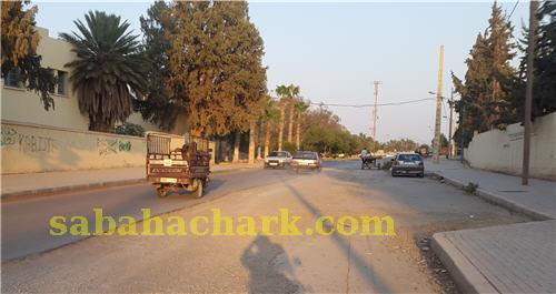 العيون سيدي ملوك : استياء بسبب توقف الأشغال بشارع الدار البيضاء  لمدة طويلة